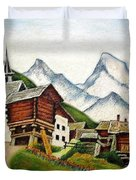 Small Town Duvet Cover
