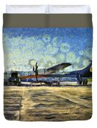 Small Turboprop Plane Duvet Cover