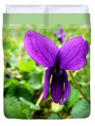 Small Violet Flower Duvet Cover