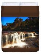 Small Waterfall In Australian Landscape  Duvet Cover