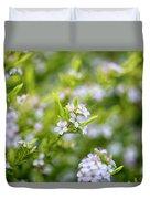 Small White Flowers Duvet Cover