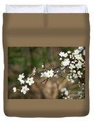 Small White Flowers Of Thorns Duvet Cover