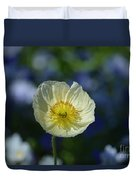 Small White Poppy Duvet Cover