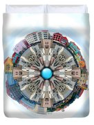 Small World In The Clouds Duvet Cover