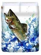Smallmouth Bass Duvet Cover