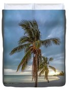Smathers Beach Coconut Sunset Duvet Cover