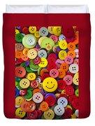 Smiley Face Button Duvet Cover