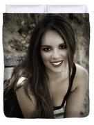 Smiling Beauty Duvet Cover