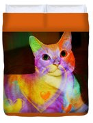 Smiling Kitty Duvet Cover