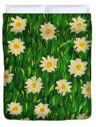 Smiling Margaret's Flowers Duvet Cover