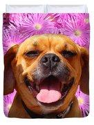 Smiling Pug Duvet Cover