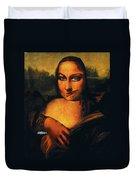 Smirking Mona Duvet Cover