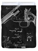 Smith And Wesson Model 3 Patent Duvet Cover