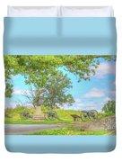 Smiths Battery Devils Den Gettysburg Duvet Cover