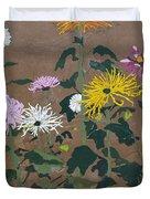Smith's Giant Chrysanthemums Duvet Cover