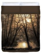 Smoke By The Water Duvet Cover