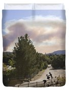Smoke From Ventura Wildfire, View Duvet Cover