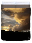 Smoke Like Sunset Duvet Cover