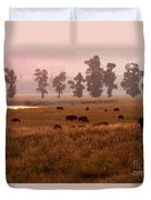 Smoke Over Lamar Valley Duvet Cover