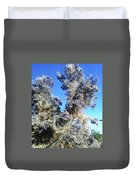 Smoke Tree In Bloom With Blue Purple Flowers Duvet Cover