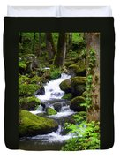 Smokey Mountain Stream Duvet Cover