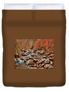 Smokey Mountain Streams And Fall Foilage 2 Duvet Cover