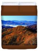 Smokey Mountain Sunrise Duvet Cover