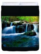 Smokey Mountains Mountain Stream 4 Duvet Cover