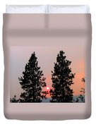 Smokey Okanagan Sunset Duvet Cover