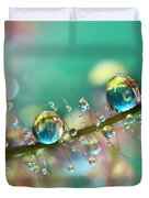Smokey Rainbow Drops Duvet Cover