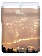 Smokey Skies Sunset Duvet Cover