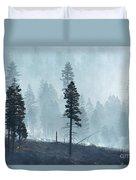 Smokey Trees Duvet Cover