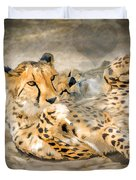Smokin Cheetah Love Duvet Cover