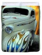 Smokin' Hot - 1938 Chevy Coupe Duvet Cover