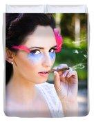 Smoking Glamour Duvet Cover