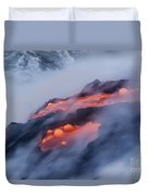 Smoking Pahoehoe Lava Duvet Cover
