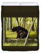 Smoky Mountain Bear Duvet Cover
