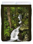 Smoky Mountain Cascade - D002388 Duvet Cover