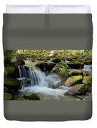Flowing Stream #3, Smoky Mountains, Tennessee Duvet Cover