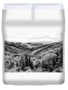 Smoky Mountains In Black And White Duvet Cover
