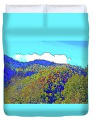 Smoky Mountains Scenery 6 With Sunny Day Filter Duvet Cover