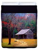 Smoky Mtn. Cabin Duvet Cover by Paul W Faust -  Impressions of Light