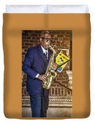 Smooth Sax Man Duvet Cover