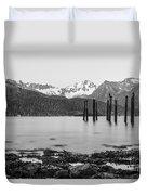 Smooth Seward Alaska Grayscale Duvet Cover
