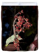 Smooth Sumac Flower Duvet Cover