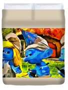Smurfette And Friends - Pa Duvet Cover