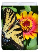 Snacking Tiger Swallowtail Butterfly Duvet Cover