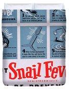Snail Fever Duvet Cover