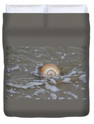 Snail In The Surf Duvet Cover