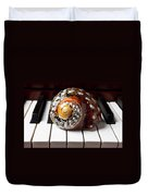 Snail Shell On Keys Duvet Cover